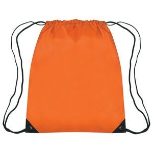 210D Polyester Drawstring Bags With Triangle Eyelet