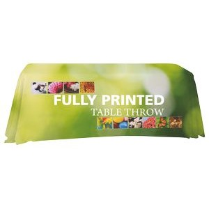 Full Coverage 6' Premium Dye Sub Printed Table Throw